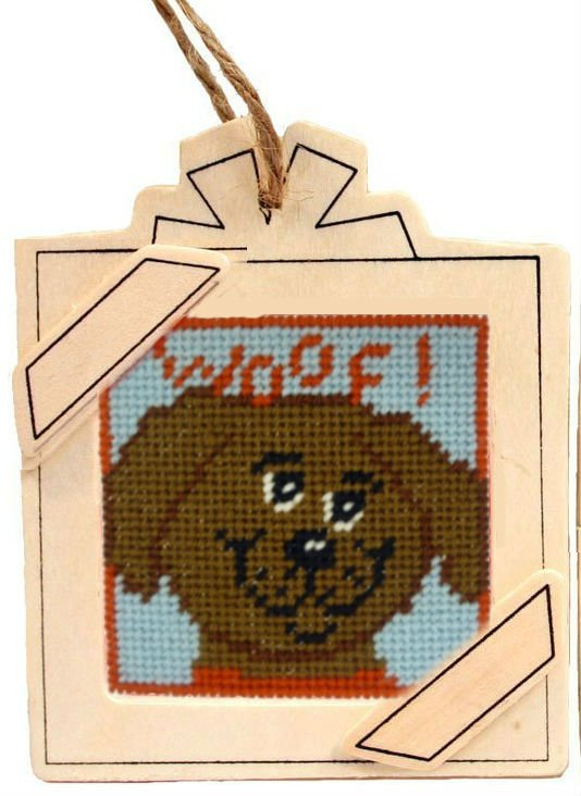 hanging frame needlepoint ornament