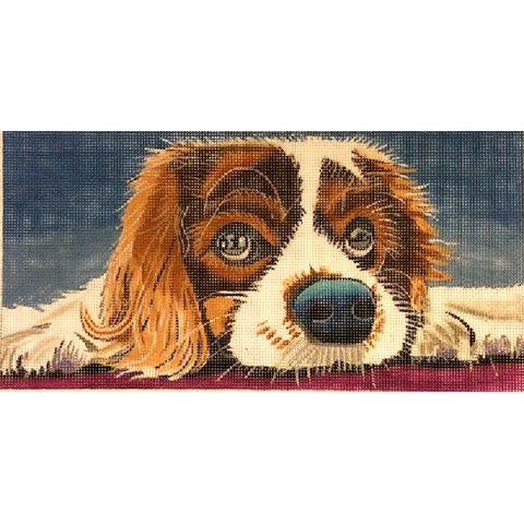 puppy eyes needlepoint by Purple Palm