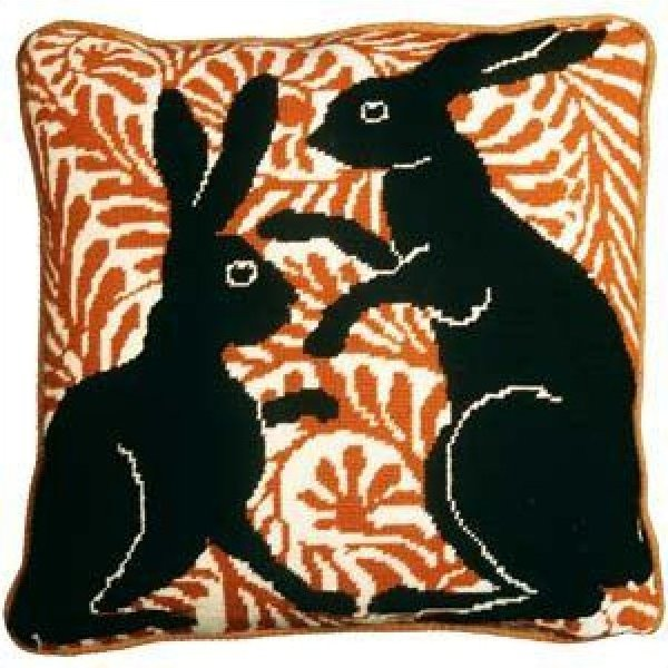 Fine Cell Needlework Black Boxing Hares