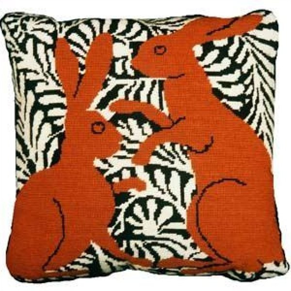 Fine Cell Needlework Brown Boxing Hares