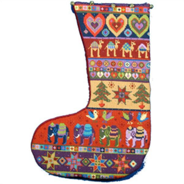 Christmas Stocking Needlepoint Kit Animal Fayre