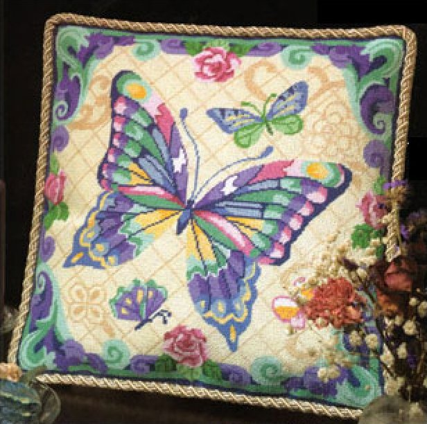 Fantasy Butterfly Needlepoint Kit