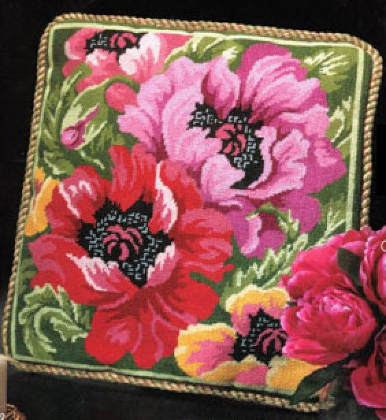 Poppies In Bloom Needlepoint Kit