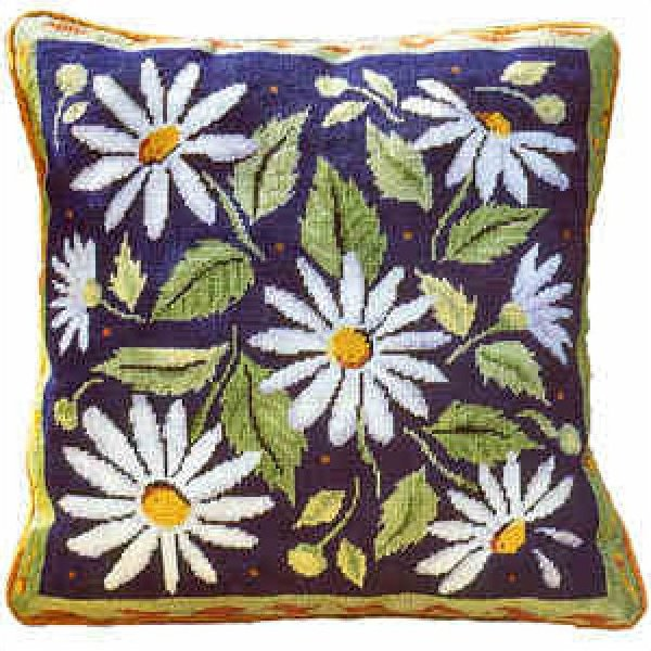 Blue Daisies<BR>Primavera Needlepoint Kit