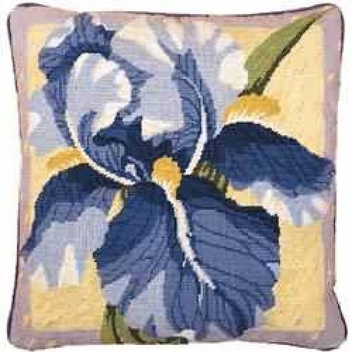 Single Iris Primavera Needlepoint