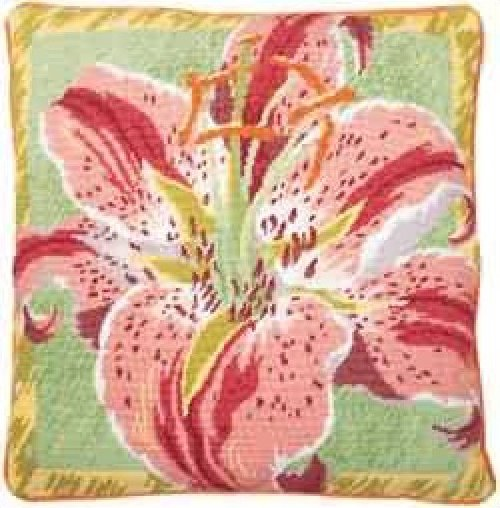 Single Lily Primavera Needlepoint