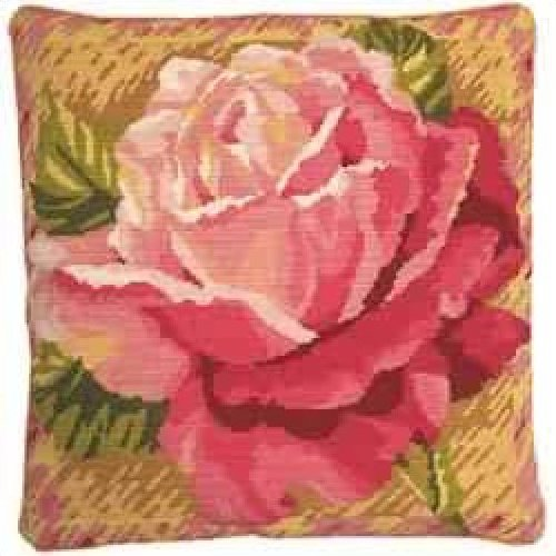 Single Rose Primavera Needlepoint
