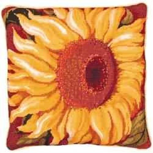 Single Sunflower Primavera Needlepoint