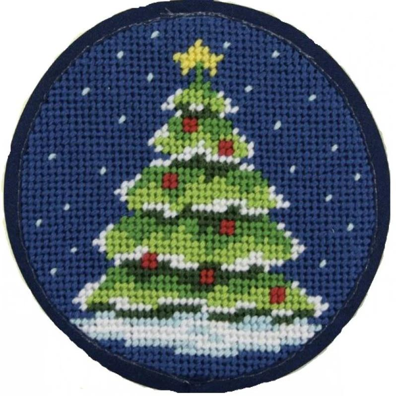 Needlepoint Christmas Ornament Kit Tree