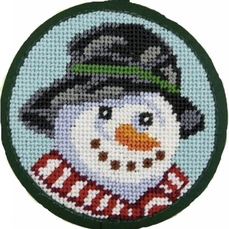 Needlepoint Christmas Ornament Kit Snowman