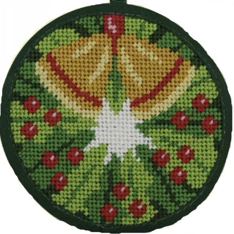 Needlepoint Christmas Ornament Kit Wreath