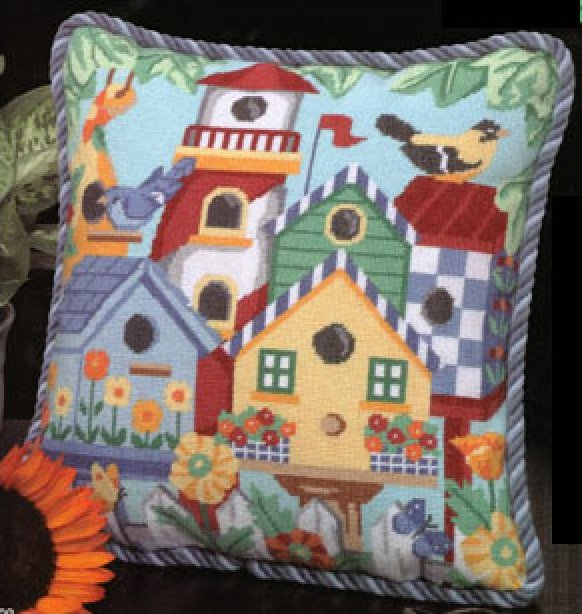 Birdhouses Needlepoint Kit