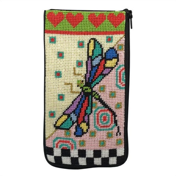 Stitch & Zip Eyeglass Case Dragonfly
