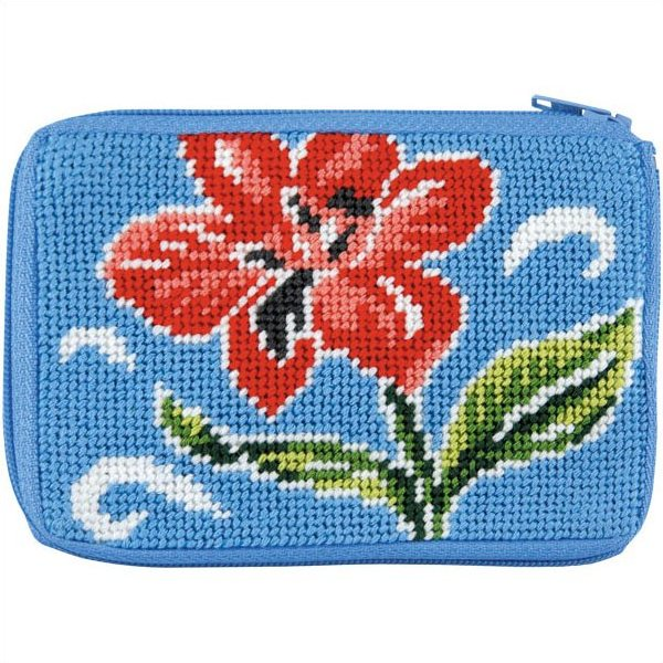 Stitch & Zip Coin Purse Red Floral