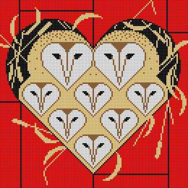 Charley Harper Needlepoint Vowlentine - Canvas Only
