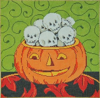 Halloween Needlepoint Head Games - Canvas Only