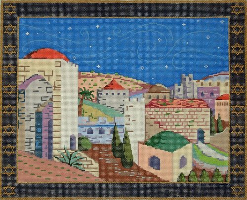 Tallis Needlepoint Jerusalem  - Canvas Only