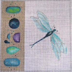 Dragonfly with gems - Canvas Only