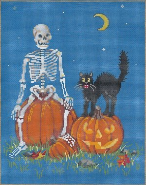 Halloween Needlepoint Shriek - Canvas Only