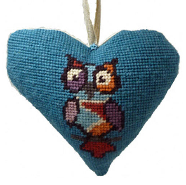 Needlepoint Lavender Heart Ornament Kit Funky Owl