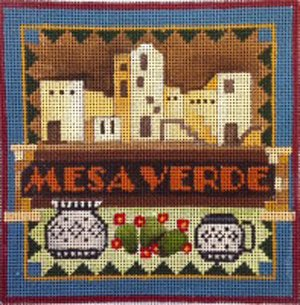 Mesa Verde national park needlepoint by Denise De Rusha  - Canvas Only