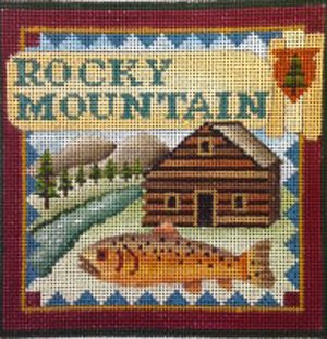 Rocky Mountain national park needlepoint by Denise De Rusha  - Canvas Only