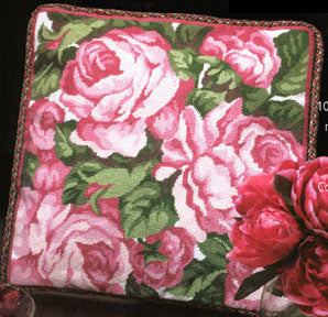 Cabbage Roses Needlepoint Kit