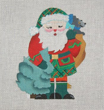 Scottish Santa by DEDE - Canvas Only