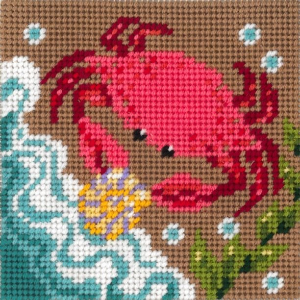 Beginner Needlepoint Kits Crab