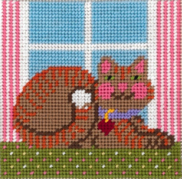 Beginner Needlepoint Kits Cat
