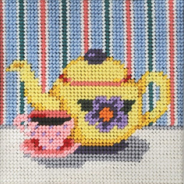 Beginner Needlepoint Kits Tea Pot