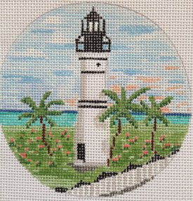 Key West Lighthouse ornament - Canvas Only