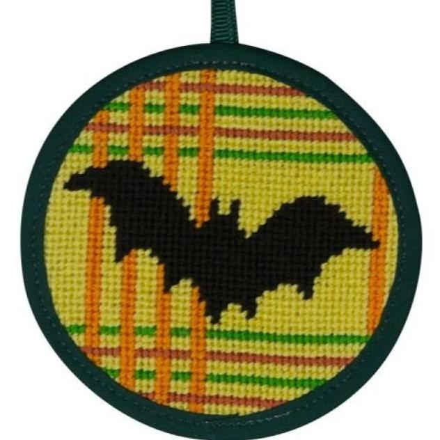 Halloween Needlepoint Ornament Kit Bat