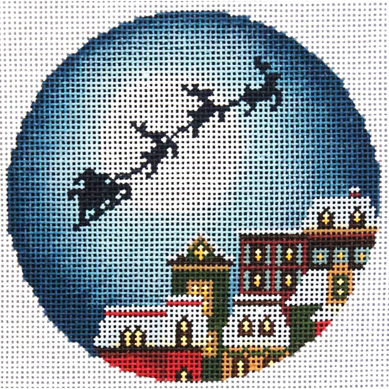 Christmas Eve Town Needlepoint Ornament -- currently unavailable
