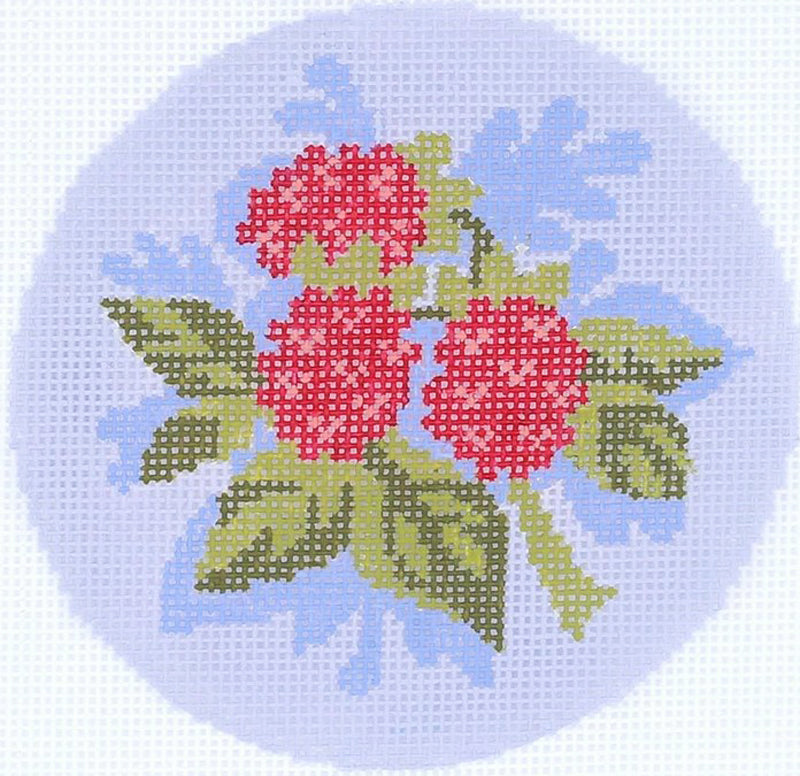 Raspberries Needlepoint Ornament