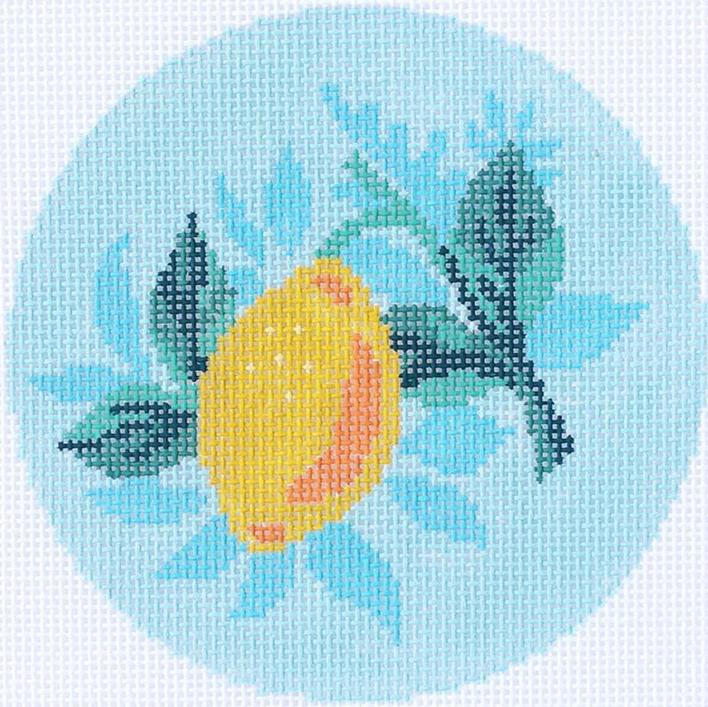 Lemon Needlepoint Ornament