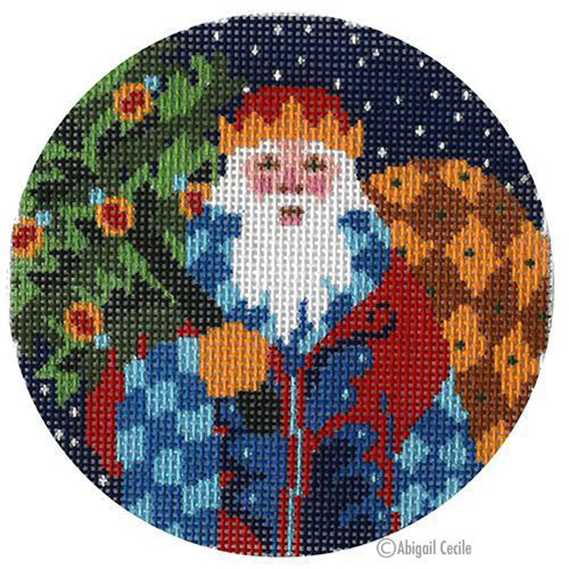 Old World Santa Needlepoint Ornament