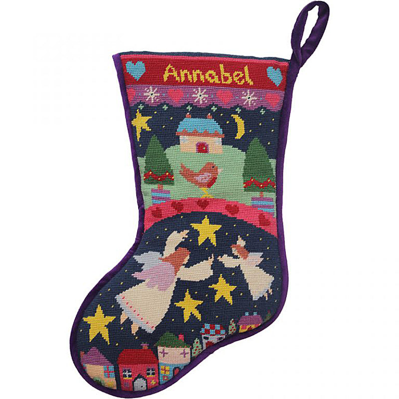 Angels Needlepoint Christmas Stocking Kit