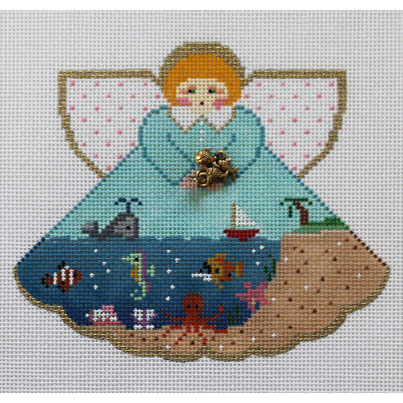 Tropical Island Angel Needlepoint