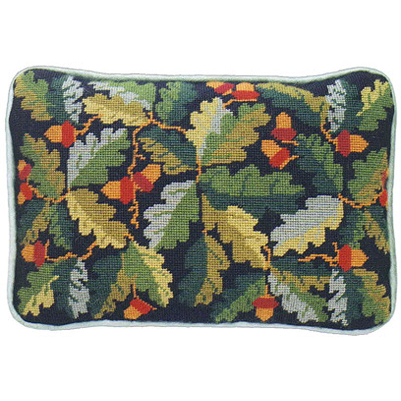 Acorns Lumbar Pillow -black background