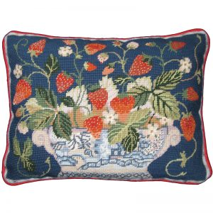 Blue Strawberry Fair Primavera Needlepoint