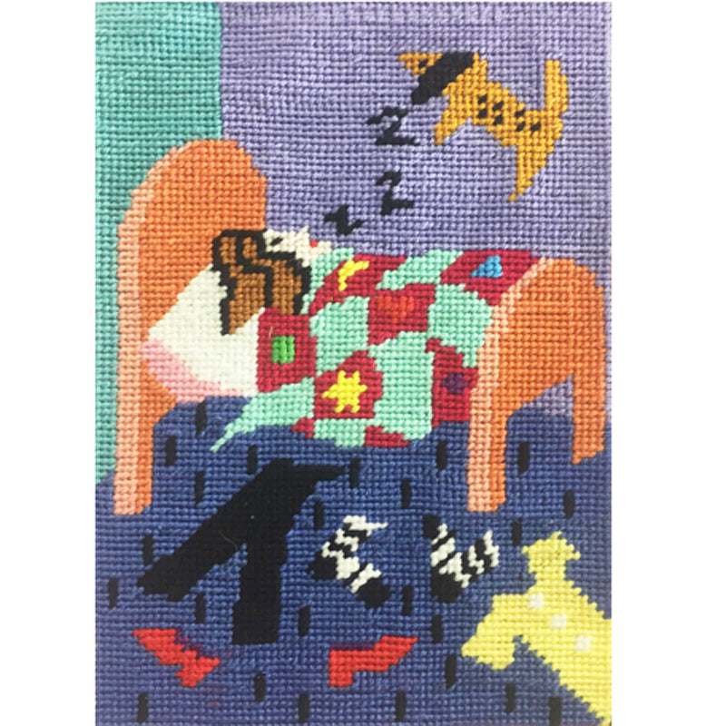 Jennifer Pudney Needlepoint Dog Tired
