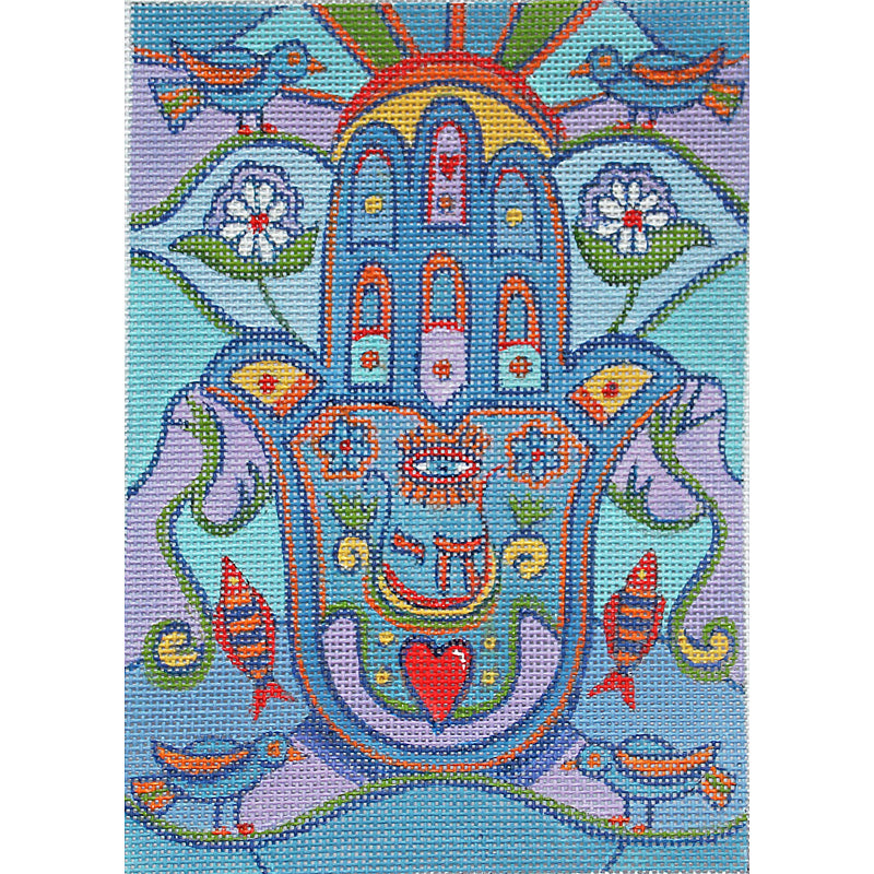 Hamsa Needlepoint Eye of God - currently unavailable