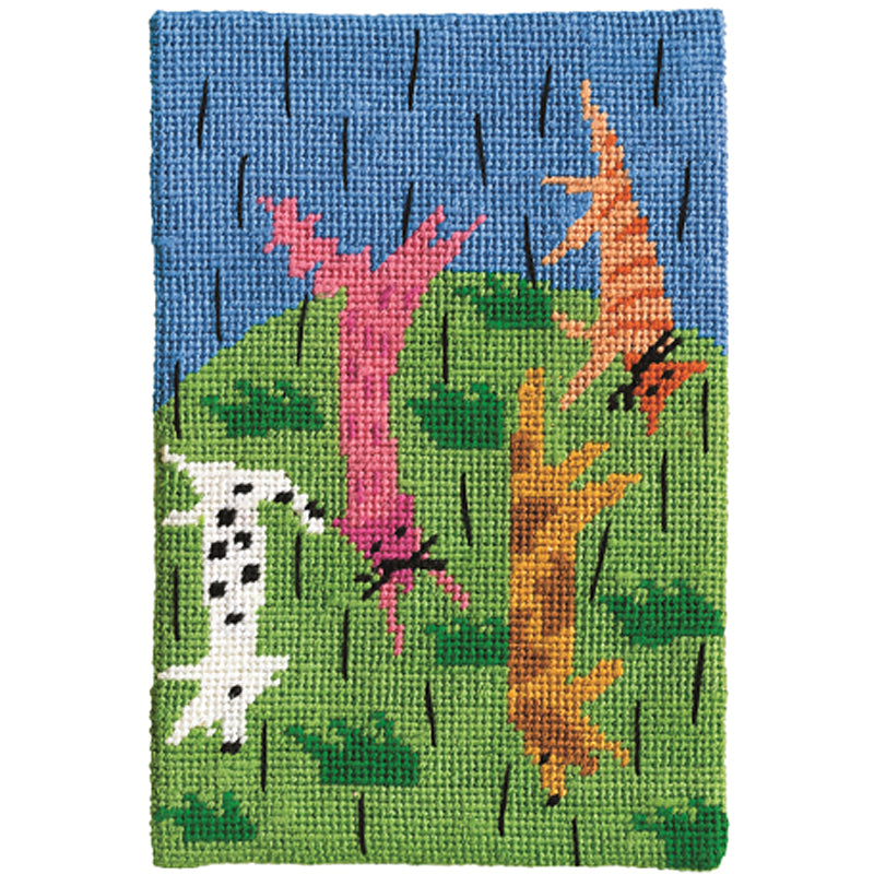 Jennifer Pudney Needlepoint Raining Cats and Dogs
