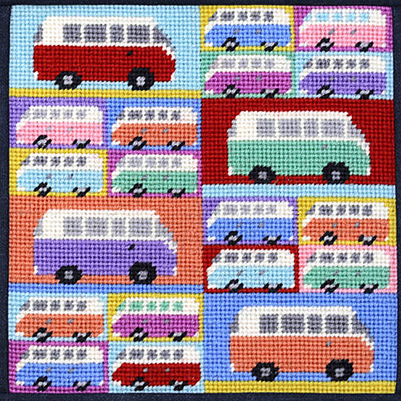 Jolly Campervans Needlepoint Kit