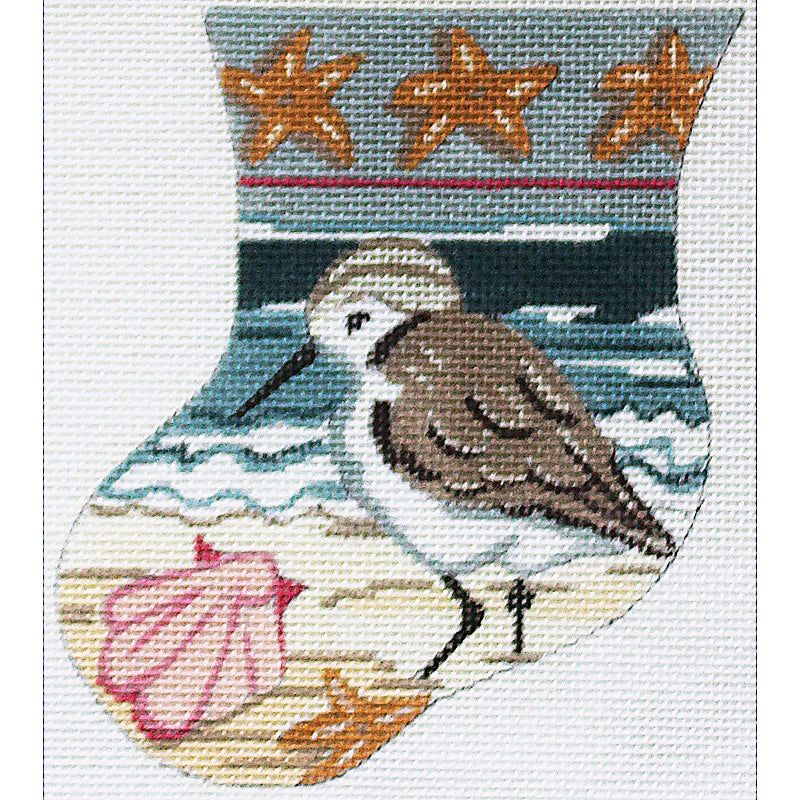 Sandpiper with Shells Mini Stocking