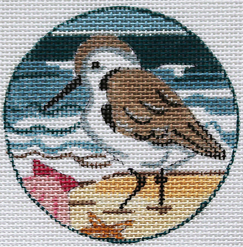 Sandpiper with Shells Ornament