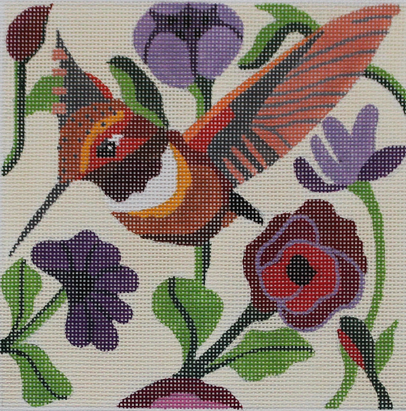 Spring Hummer Needlepoint by Melissa Prince