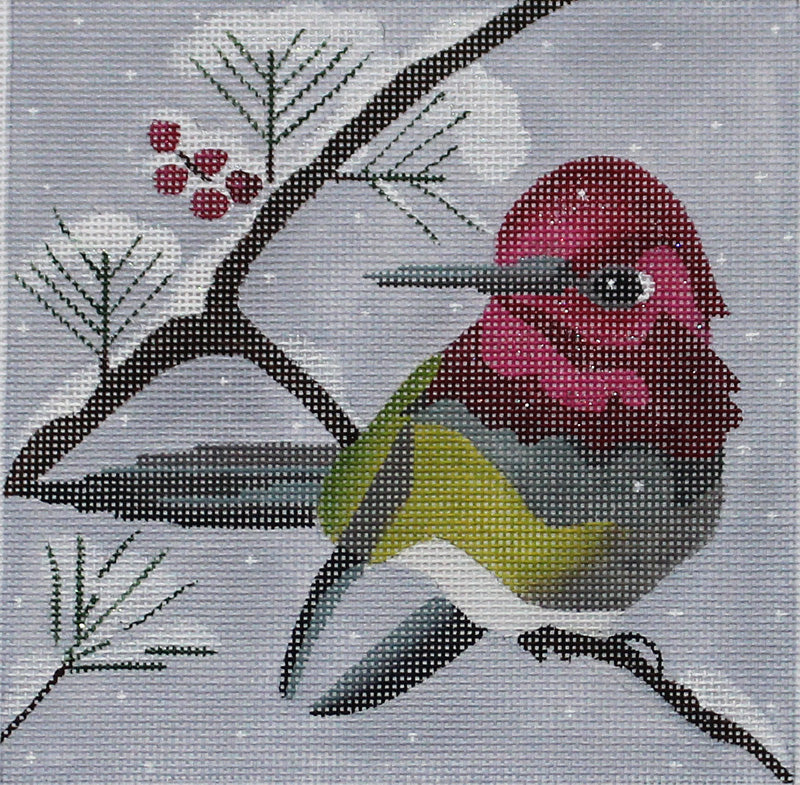 Winter Hummer Needlepoint by Melissa Prince