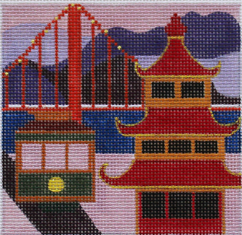 San Francisco Needlepoint By Melissa Prince